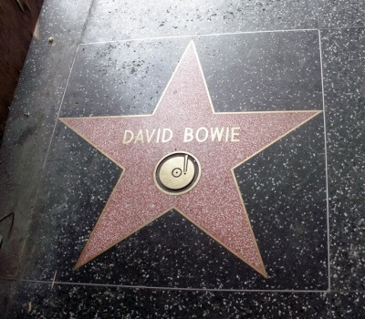 David Bowie's star on the Hollywood Walk of Fame.