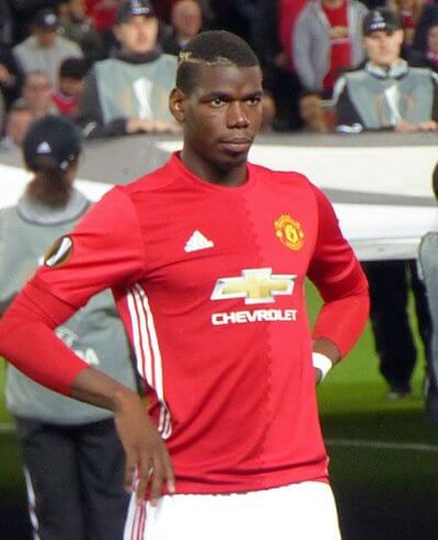 Pogba against Zorya Luhansk in September
