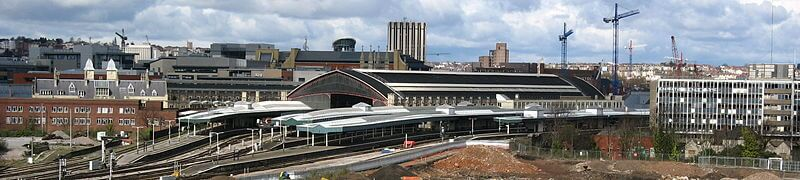 The whole station as it looks today - a gateway to London and the Southwest.